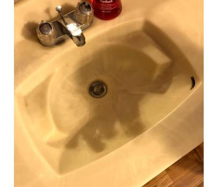 soot filled sink