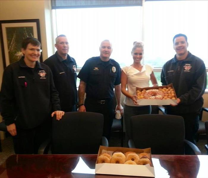 Delivering treats to First Responders